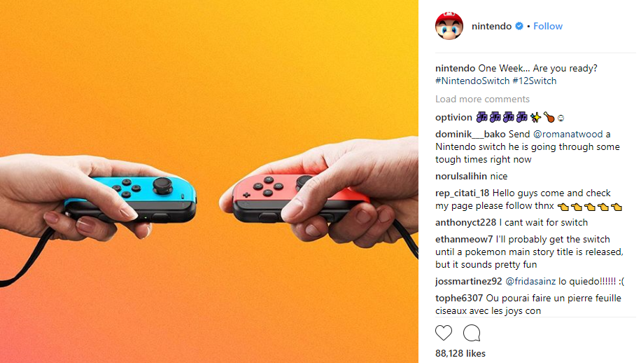 nintendo content marketing examples