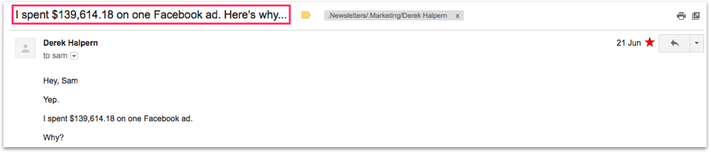 professional email subject lines