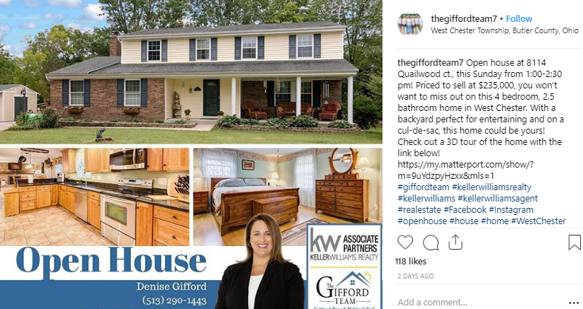 real estate instagram