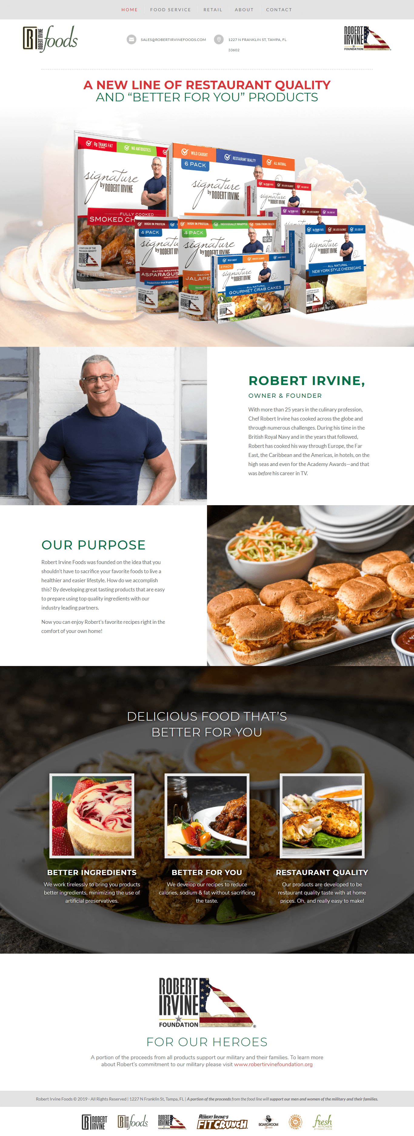 Robert Irvine Foods - Atlanta Web Design